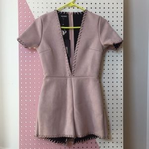 NWT missguided faux suede romper